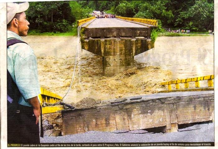 2006年ホンジュラス「大雨で橋ブッ壊れる」