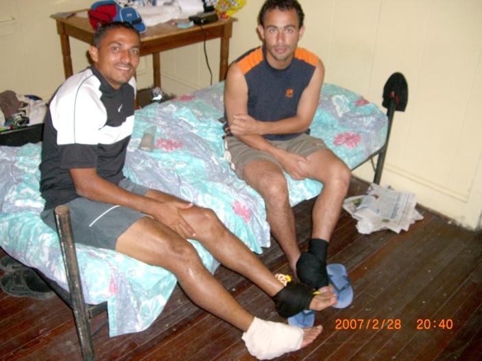 2007年2月。みんな足首負傷!!(パナマ)