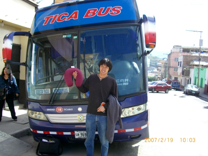 2007年2月19日(月)。ついに「パナマ行き」当日!「TICA BUSツアー」スタート!無事、Nicaragu (2)