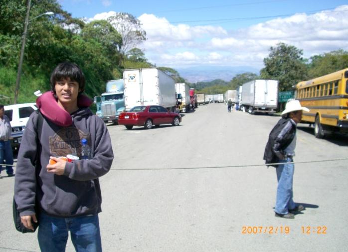 2007年2月19日(月)。ついに「パナマ行き」当日!「TICA BUSツアー」スタート!無事、Nicaragu (6)
