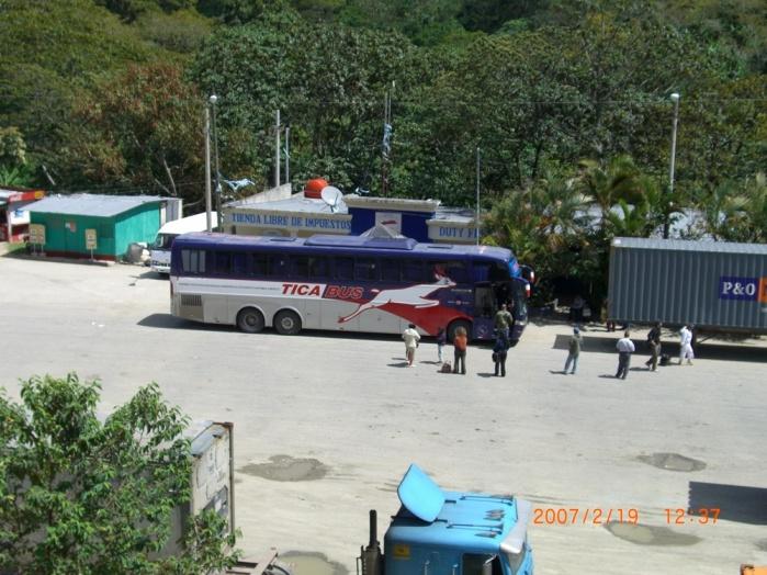 2007年2月19日(月)。ついに「パナマ行き」当日!「TICA BUSツアー」スタート!無事、Nicarag (16)