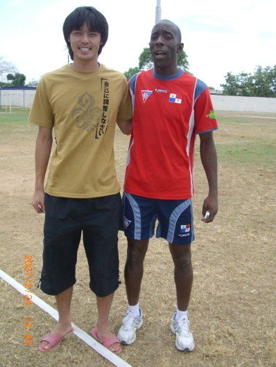 2007年2月24日(土)元パナマ代表キャプテン、ペルシバル。