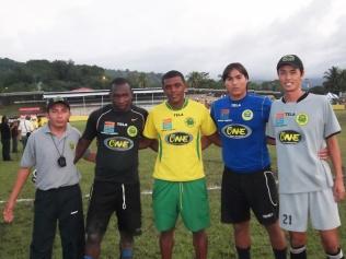 Con el porteros de Parrillas One 2013