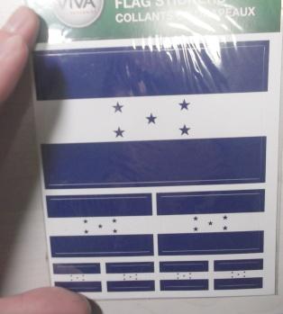 ホンジュラス国旗ステッカー!2012年12月1日(土)①