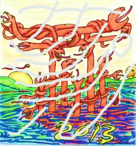 (サンプル)2013年「巳年」年賀状!(Gumroad)